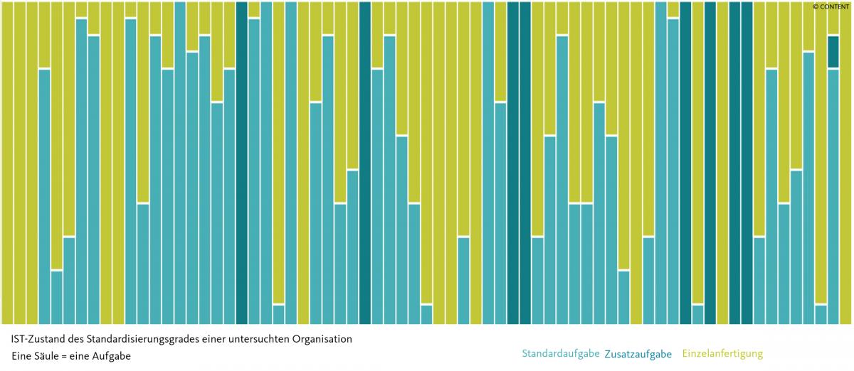IST-Zustand des Standardisierungsgrades einer Organisation